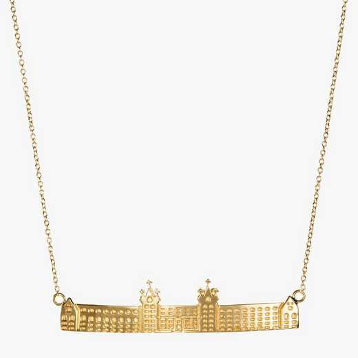 HYC0207: Cavan Gold Holy Cross Fenwick Hall Necklace by KYLE CAVAN