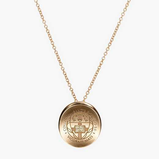 HYC0113: Cavan Gold Holy Cross Organic Necklace by KYLE CAVAN