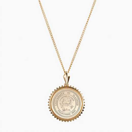 ILL0116: Cavan Gold Illinois Sunburst Necklace by KYLE CAVAN