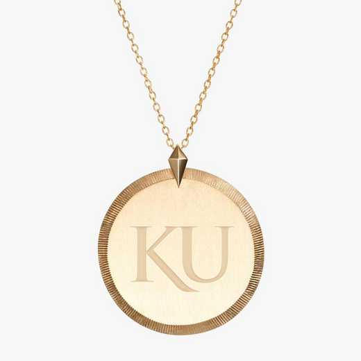 KS0122: Cavan Gold Kansas Florentine Necklace by KYLE CAVAN