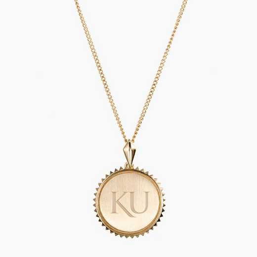 KS0116AU: 14k Yellow Gold Kansas Sunburst Ncklc by KYLE CAVAN