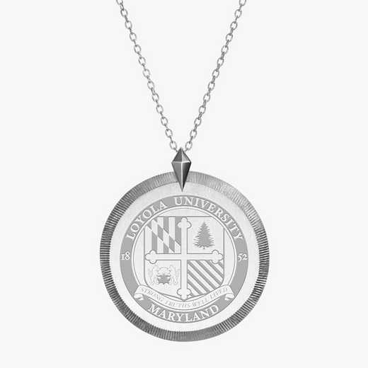 LUM0121: Sterling Silver Loyola of Maryland Florentine Ncklc by KYLE CAVAN