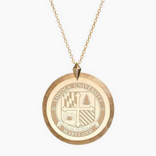 LUM0122: Cavan Gold Loyola of Maryland Florentin Necklaceby KYLECAVAN