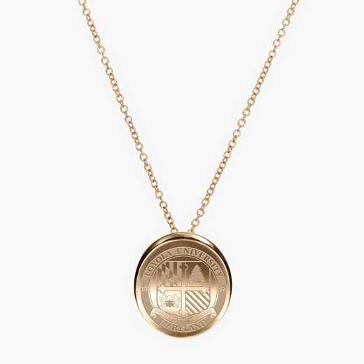 LUM0113: Cavan Gold Loyola of Maryland Organic Necklace by KYLE CAVAN