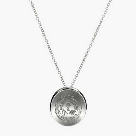 MUOHIO0112: Sterling Silver Miami of Ohio Organic Ncklc by KYLE CAVAN