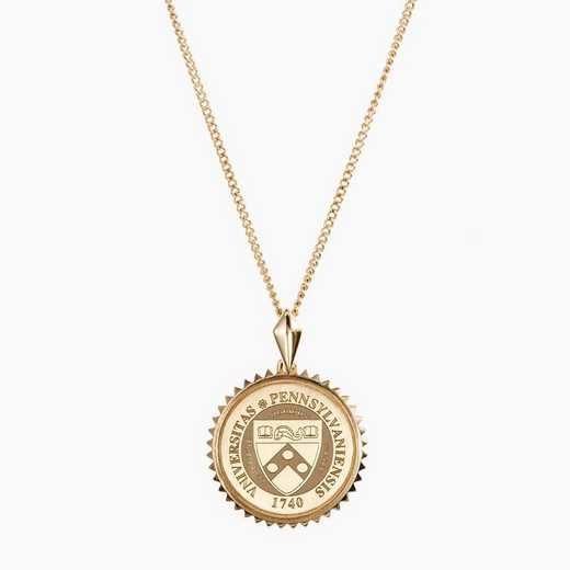 PA0116: Cavan Gold Penn State Sunburst Necklace by KYLE CAVAN