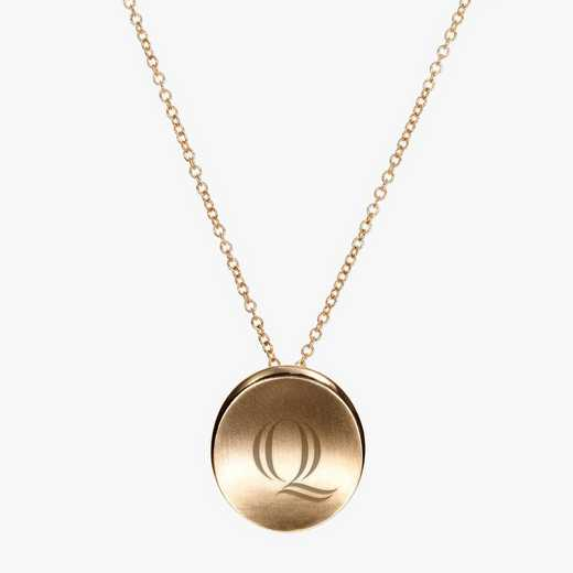 QU0113QAU: 14k Yellow Gold Quinnipiac Organic Necklace by KYLE CAVAN