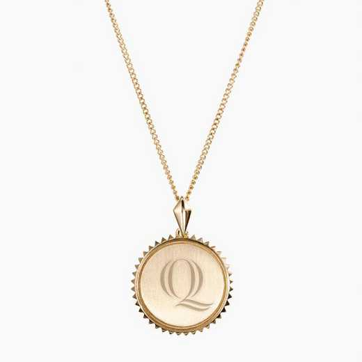 QU0116QAU: 14k Yellow Gold Quinnipiac Sunburst Necklace by KYLE CAVAN