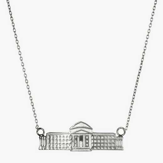 SMU0206: Sterling Silver SMU Dallas Hall Necklace by KYLE CAVAN