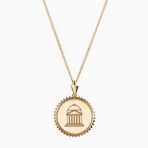 SMU0116AU: 14k Yellow Gold SMU Sunburst Necklace by KYLE CAVAN