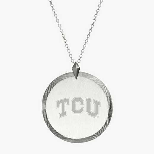 TCU0121: Sterling Silver TCU Florentine Necklace by KYLE CAVAN