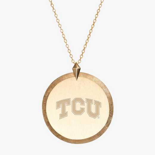 TCU0122AU: 14k Yellow Gold TCU Florentine Necklace by KYLE CAVAN