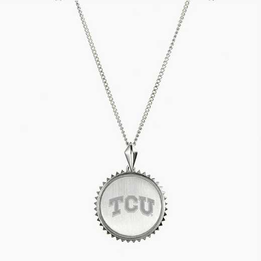 TCU0115: Sterling Silver TCU Sunburst Necklace by KYLE CAVAN