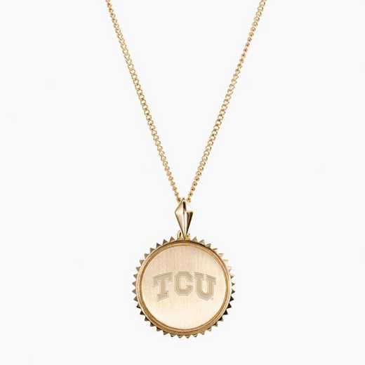 TCU0116: Cavan Gold TCU Sunburst Necklace by KYLE CAVAN