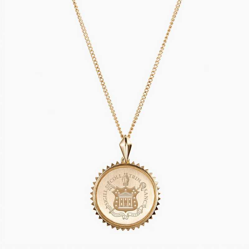 TC0116: Cavan Gold Trinity Sunburst Necklace by KYLE CAVAN