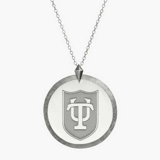 TUL0121: Sterling Silver Tulane Florentine Necklace by KYLE CAVAN