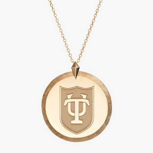 TUL0122: Cavan Gold Tulane Florentine Necklace by KYLE CAVAN