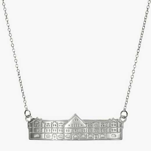 TUL0206: Sterling Silver Tulane Gibson Hall Necklace by KYLE CAVAN