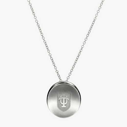 TUL0112: Sterling Silver Tulane Organic Necklace by KYLE CAVAN