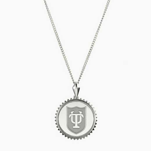 TUL0115: Sterling Silver Tulane Sunburst Necklace by KYLE CAVAN