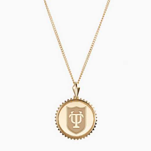TUL0116: Cavan Gold Tulane Sunburst Necklace by KYLE CAVAN