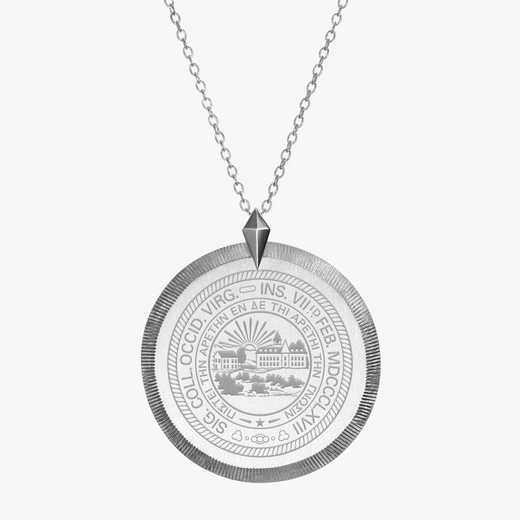 WV0121: Sterling Silver West Virginia Florentine Necklace