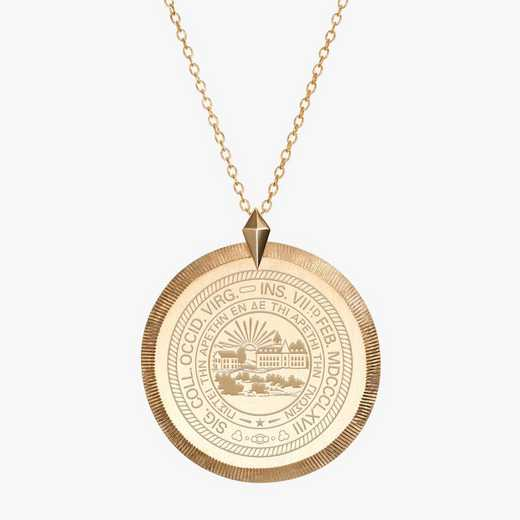 WV0122: Cavan Gold West Virginia Florentine Necklace by KYLE CAVAN