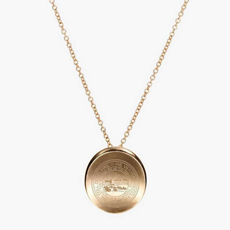 WV0113AU: 14k Yellow Gold West Virginia Organic Necklace by KYLE CAVAN