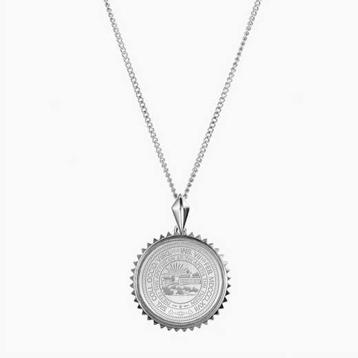 WV0115: Sterling Silver West Virginia Sunburst Necklace