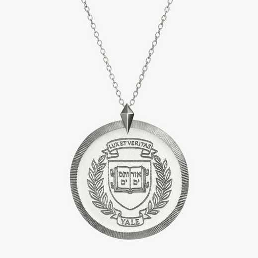 YAL0121: Sterling Silver Yale Florentine Necklace by KYLE CAVAN
