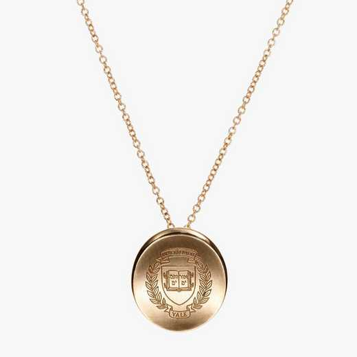 YAL0113AU: 14k Yellow Gold Yale Organic Necklace by KYLE CAVAN