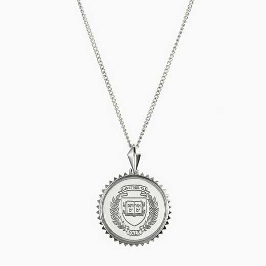 YAL0115: Sterling Silver Yale Sunburst Necklace by KYLE CAVAN