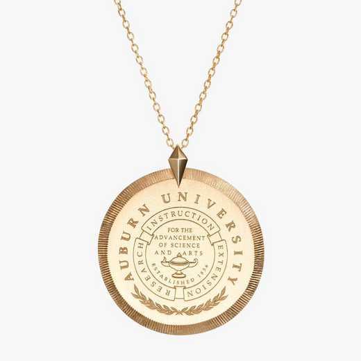 AUB0122AU: 14k Yellow Gold Auburn Florentine Necklace by KYLE CAVAN