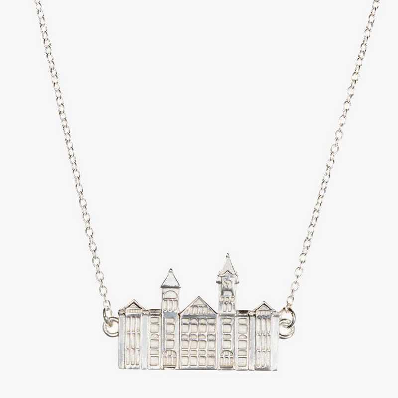 AUB0206: Sterling Silver Auburn Samford Hall Necklace by KYLE CAVAN