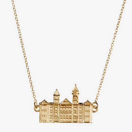 AUB0207AU: 14k Yellow Gold Auburn Samford Hall Necklace by KYLE CAVAN