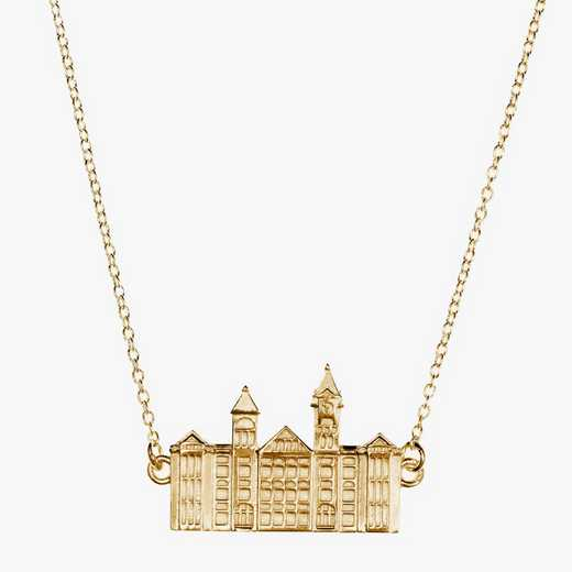 AUB0207: Cavan Gold Auburn Samford Hall Necklace by KYLE CAVAN