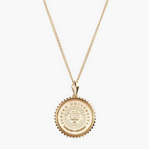 AUB0116AU: 14k Yellow Gold Auburn Sunburst Necklace by KYLE CAVAN