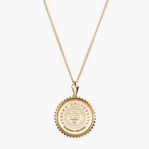 AUB0116: Cavan Gold Auburn Sunburst Necklace by KYLE CAVAN