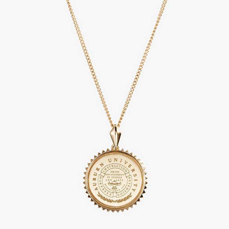 AUB0116: Cavan Gold Auburn Sunburst Necklace by KYLE CAVAN