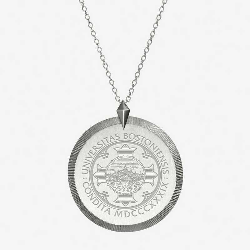 BU0121: Sterling Silver BU Florentine Necklace by KYLE CAVAN
