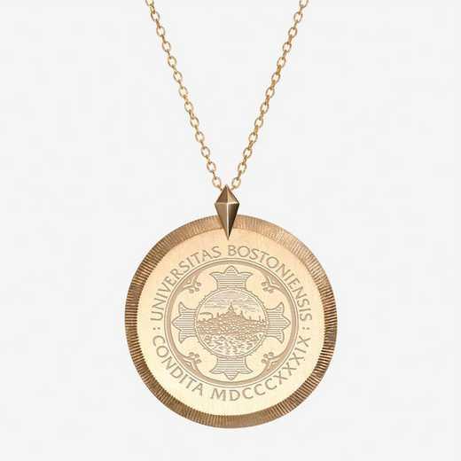 BU0122AU: 14k Yellow Gold BU Florentine Necklace by KYLE CAVAN