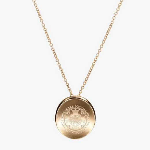 BU0113: Cavan Gold Boston University Organic Necklace by KYLE CAVAN