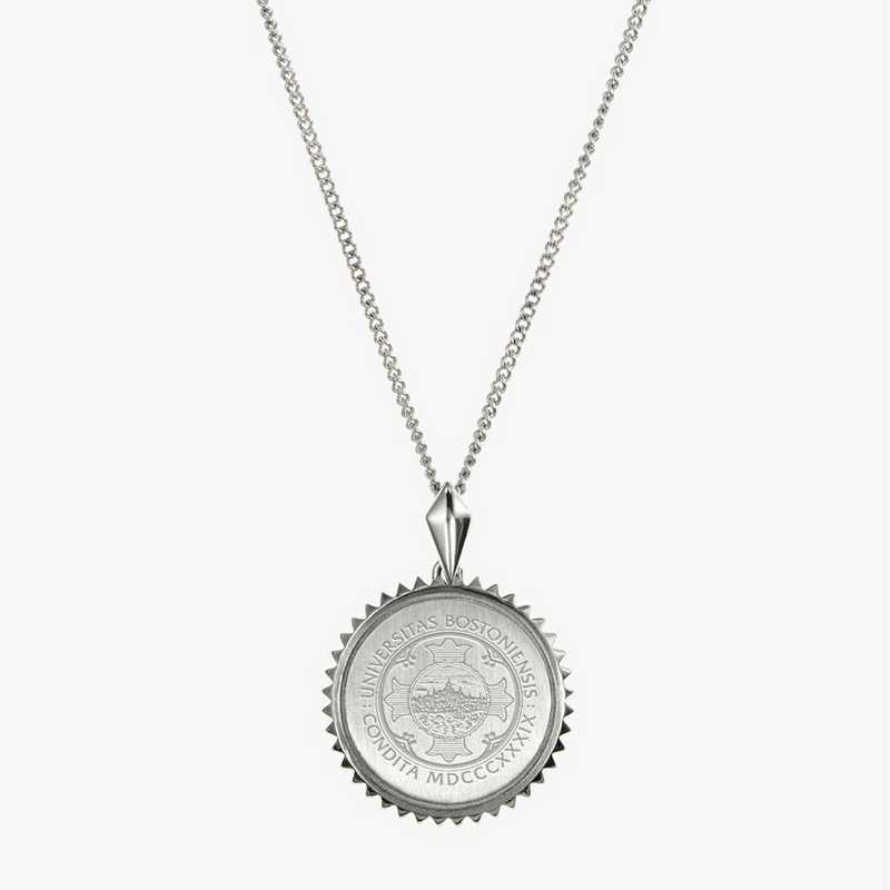 BU0115: Sterling Silver BU Sunburst Necklace by KYLE CAVAN
