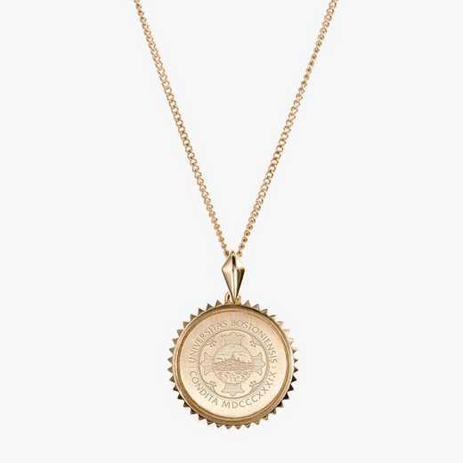 BU0116AU: 14k Yellow Gold BU Sunburst Necklace by KYLE CAVAN