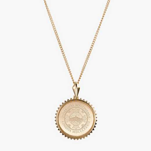 BU0116: Cavan Gold Boston University Sun Necklace by KYLE CAVAN