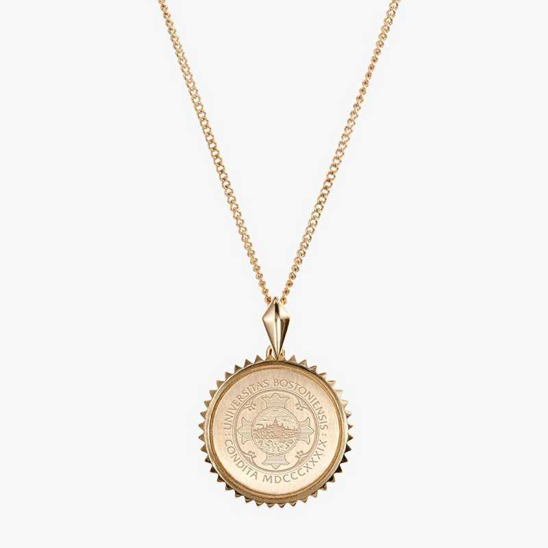 BU0116: Cavan Gold Boston University Sun Necklace by KYLE CAVAN