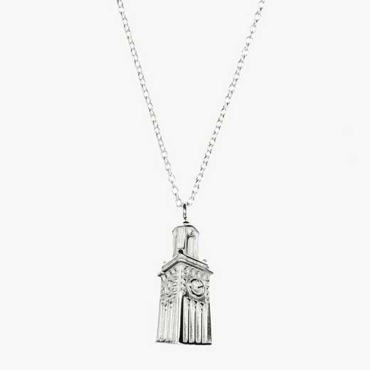 BRO0206: Sterling Silver Brown Carrie Tower Necklace by KYLE CAVAN