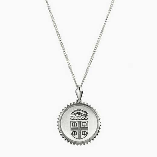 BRO0115: Sterling Silver Brown Sunburst Necklace by KYLE CAVAN
