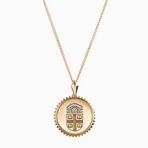 BRO0116: Cavan Gold Brown Sunburst Necklace by KYLE CAVAN