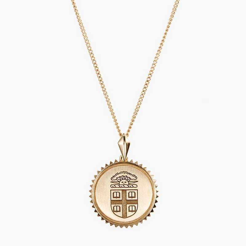 BRO0116: Cavan Gold Brown Sunburst Necklace by KYLE CAVAN